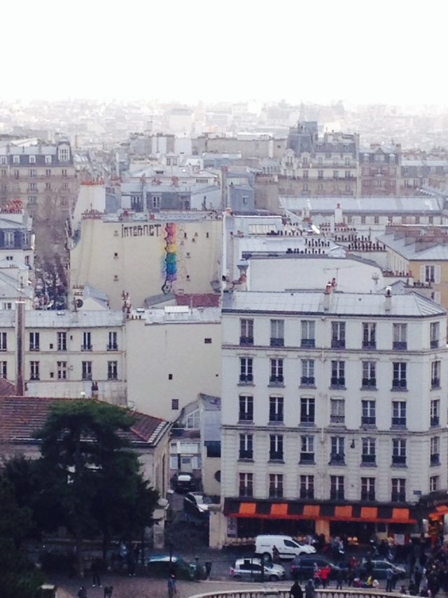 a spectacular view of paris from the the tippy-top of montmartre.