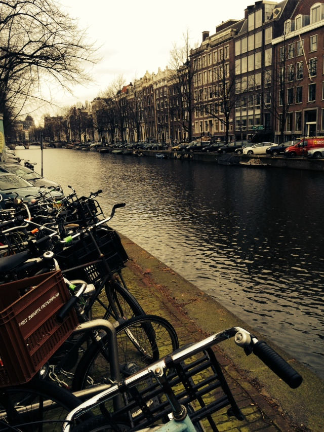bikes, everywhere. I read somewhere that about 70 percent of all trips in amsterdam are taken by bike. astounding.
