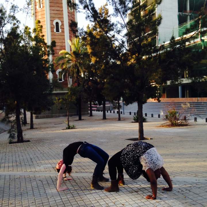 friendly gymnastics competition in barcelona.