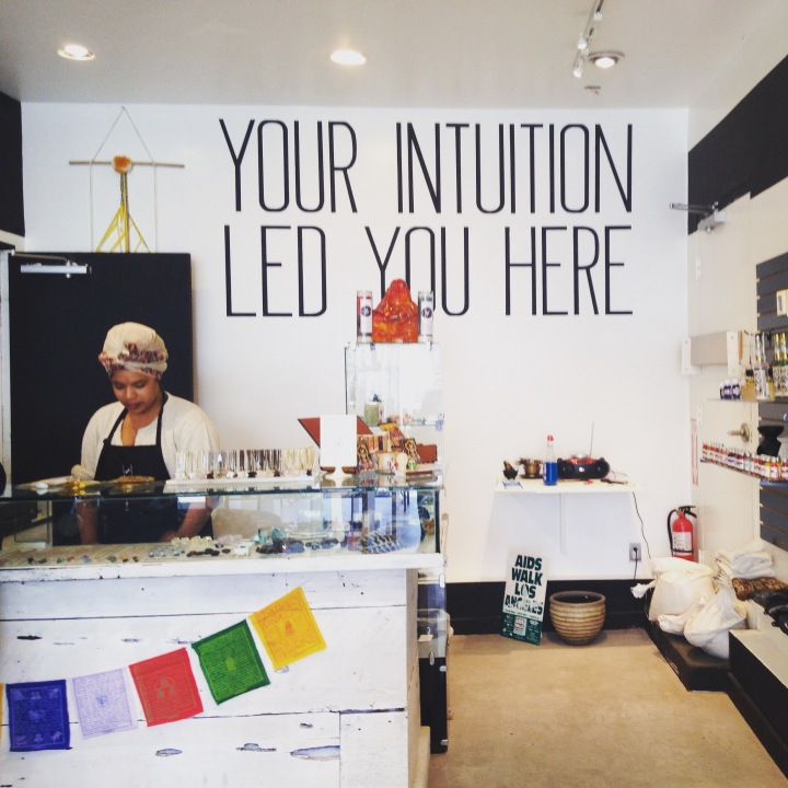 spent way too much time and money in this fun, modern mystic shop, loading up on rosemary and candles and crystals. in true melrose fashion, this was one of several shops like this on melrose. {7449 melrose ave., 90046}