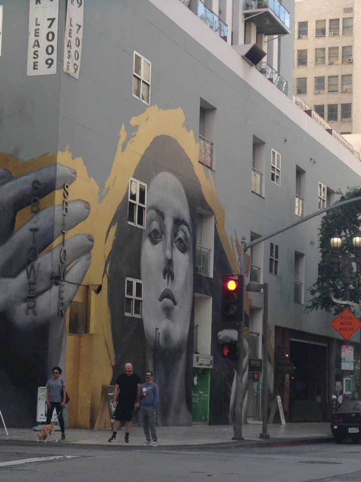 some super cool mural in downtown l.a.